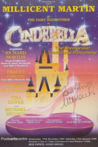 Millicent Martin Cinderella Hand Signed Theatre Flyer