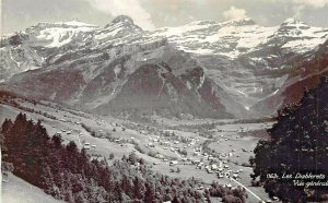 LES DIABLERETS SWITZERLAND~ELEVATED PANORAMA~1960s PHOTO POSTCARD