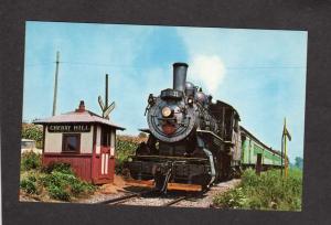 PA Cherry Hill Railroad Train Station Depot Strasburg Pennsylvania Postcard