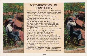 Neighboring in Kentucky Poem by Lucy Louise Hatcher, Men with rifles, 30-40s