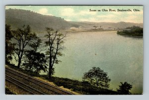 Steubenville OH, Scene On Ohio River, Vintage Ohio c1911 Postcard
