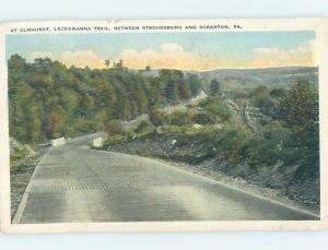 W-Border STREET SCENE Stroudsburg And Scranton Pennsylvania PA hJ5816