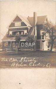 Ohio Postcard Real Photo RPPC c1910 BERLIN CENTER Shively Residence