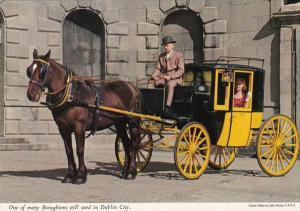 Typical Horse and Carriage, Brougham, Used In Dublin City Ireland