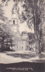 WISCASSET, Maine, PU-1947; Congregational Church And Court House