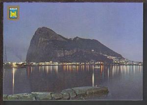 Night View Rock of Gibraltar Postcard BIN