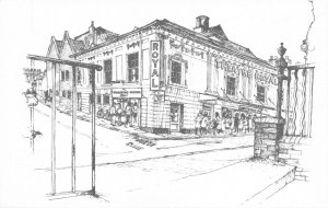 Hampshire Art Sketch Postcard, Theatre Royal GI0