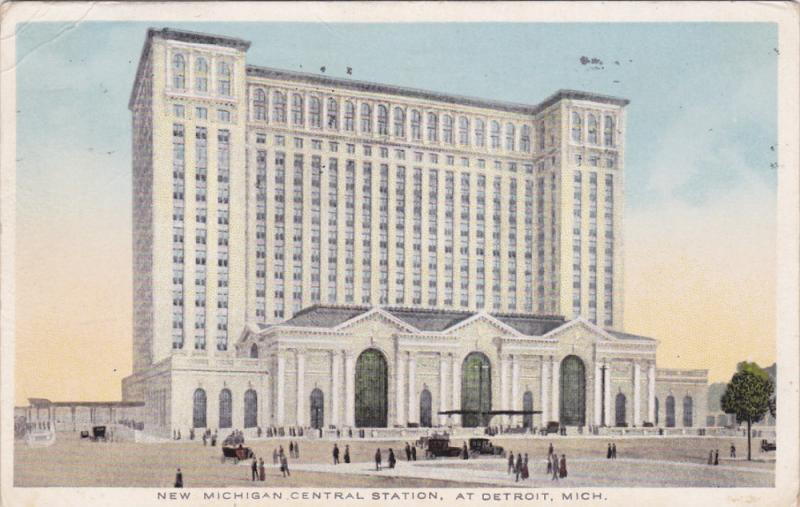 DETROIT, Michigan, PU-1914; New Michigan, Central Station