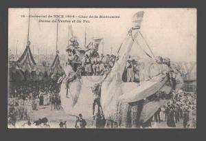 085308 FRANCE Carnaval Nice 1908 Char Marocaine Danse Old PC