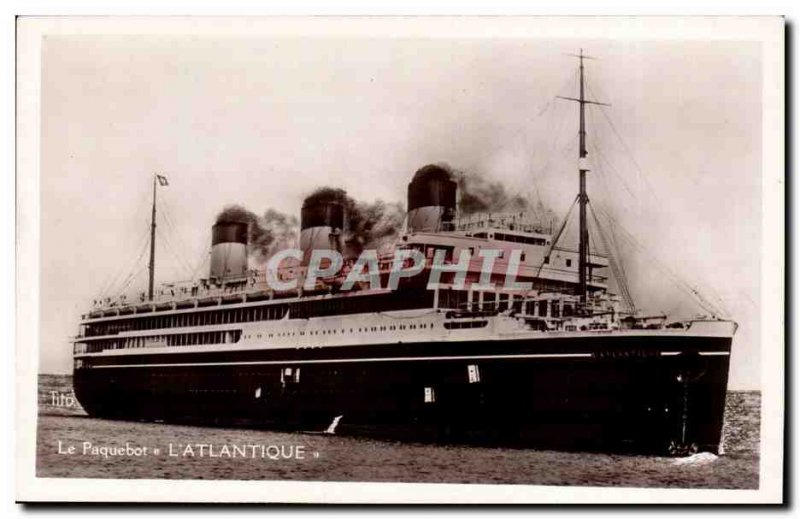 Postcard Old Ship Boat l & # 39atlantique