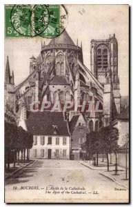 Old Postcard Bourges Apse of the Cathedral