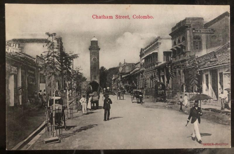 Mint Colombo RPPC Real Picture Postcard Chatham Street View
