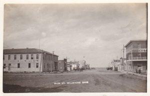 RP: Main Street , MILESTONE , Saskatchewan , Canada , 1910s
