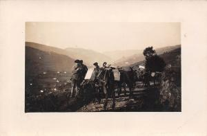 Soldiers artilery crossing mountains real photo