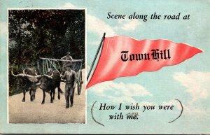Pennsylvania Town Hil Scene Along The Road 1920 Pennant Series