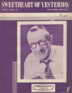 Sweetheart Of Yesterday Bunny Doyle 1950s Sheet Music