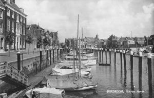 B95924 dordrecht nieuwe haven ship bateaux real photo  netherlands