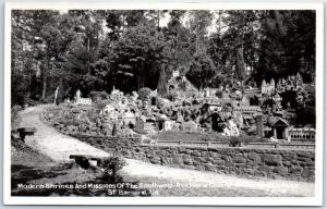 Alaska RPPC Real Photo Postcard Ave Maria Grotto St. Bernard College c1950s