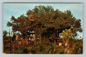 Orlando FL- Florida, Swiss Family Island Treehouse, Disney, Chrome c1971Postcard