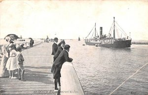 Ostende Bateauentrant au Port Belgium 1911