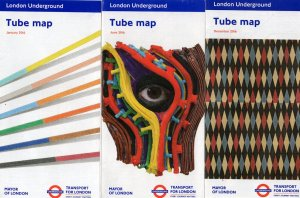 London Underground Tube Train Map 2016 Three Different Maps