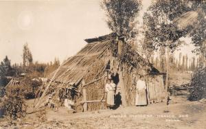 E16/ Mexico Real Photo RPPC Postcard c1930s Native People Hut Indiginous 10