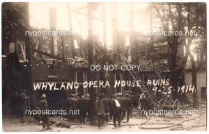 RPPC, Whyland Opera House Ruins 1914, St. Johnsville NY