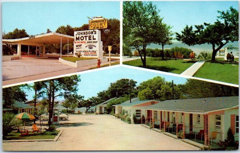 Panama City Fl Postcard Treasure Island Motel Highway 98 Roadside Dexter Chrome Hippostcard