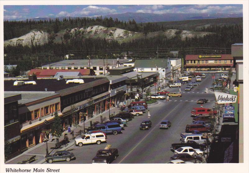 Cars on Main Street, Whitehorse, Yukon, Canada, 50-70´s