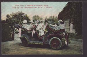 First Prize at Spokane Automobile Show,Float Postcard