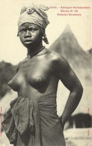 CPA Senegal Ethnic Nude Fortier - 1345. Étude N 24 Femme Soussou (71006)