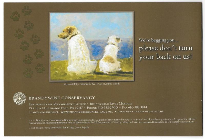 Jamie Wyeth Brandywine Conservancy Fundraising Booklet Dogs