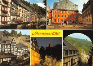 GG13607 Monschau in der Eifel Rathaus Town Hall River Promenade Castle