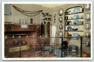 Portland Maine~Longfellow's Old Home~Old Kitchen~Fence in Front~1920s