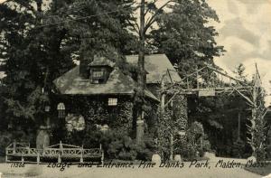 MA - Malden. Pine Banks Park, Lodge and Entrance