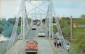 McAllen Texas-Reynosa Mexico~International Bridge over Rio Grande River~Cars-Bus