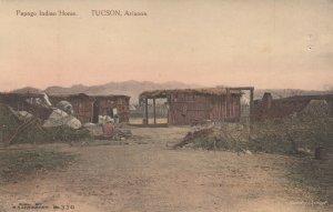 Tucson , Arizona , 1900-10s ; Papago Indian Home