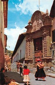 Peru Cusco, Facade of the Archbishop's Palace, Fortada del Palacio Arzobispal