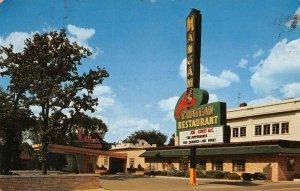 Lyons Illinois outside Mangam's Chateau restaurant vintage pc ZC548713