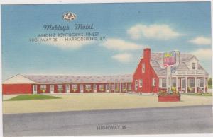 HARRODSBURG, Kentucky, 1930-1940's; Mobley's Motel, Highway 35