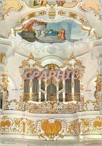 Postcard Modern Die Wies Walfahrskirche zum gegelbelten Heiland erbout Organ