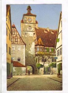 Weisser Turm Mit Judentanzhaus, Rothenburg ob der Tauber (Bavaria), Germany, ...
