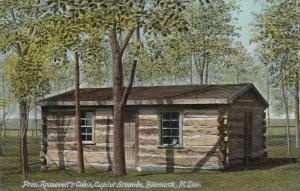 BISMARCK , North Dakota , 00-10s ; Pres. Roosevelt's Cabin, Capital Grounds