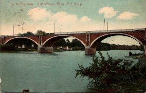 Iowa Des Moines Sixth Avenue Melan Arch Bridge 1910