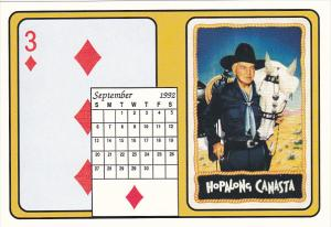 1992 Playing Card Calendar Series September