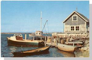 Falmouth, Mass/MA Postcard, Falmouth Harbor, Cape Cod