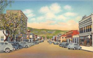 Raton New Mexico~Second Street North~Hotel Cafe~1939 Postcard