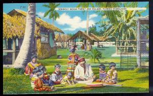 Seminole Indian Family & Everglades Miami FL unused c1930's