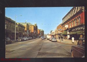 MILFORD MASSACHUSETTS DOWNTOWN MAIN STREET SCENE 1950's CARS