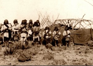 Apache Indians Group In Hostile Camp Under Naiche Photographed Ma...